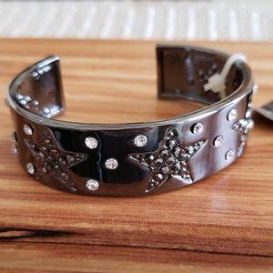 M. Haskell Hematite Stars Cuff Bracelet